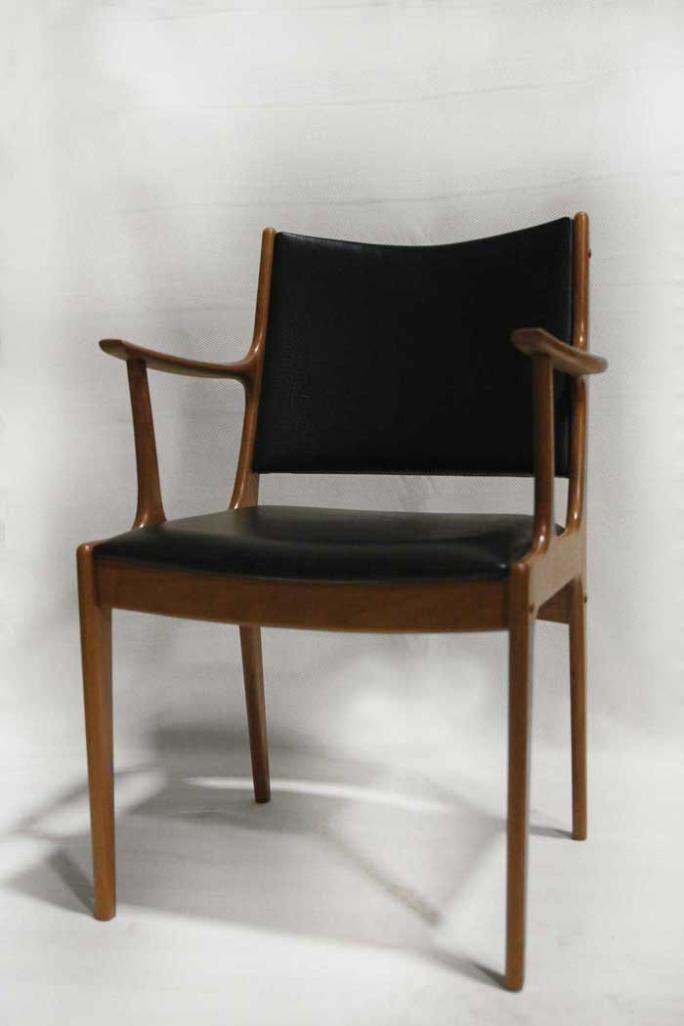 Refinished 1960s Johannes Anderson Danish Modern dining chair