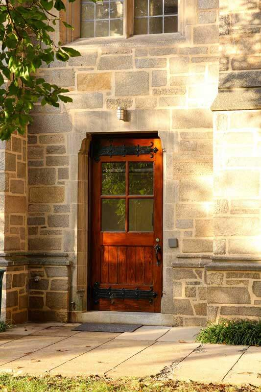 Refinished Exterior Door at a Theological College