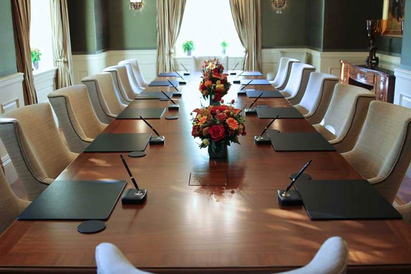 repaired boardroom at the Jefferson Hotel