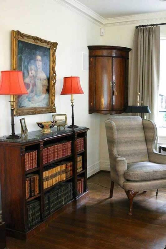 bow front antique corner cabinet