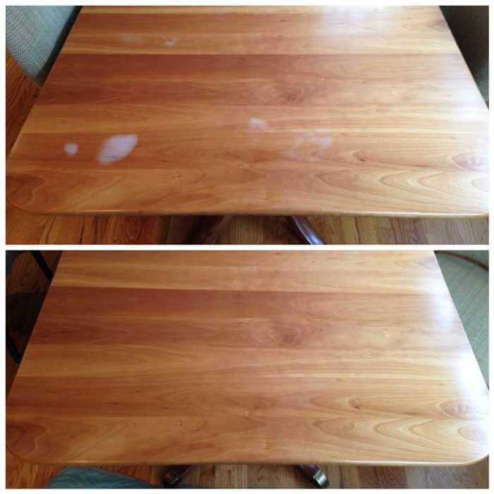onsite repair of a dining table