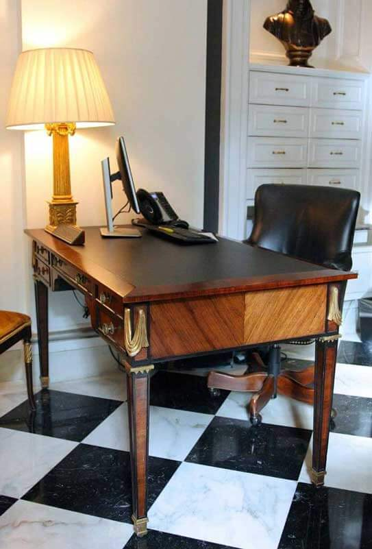Refinished empire writing desk for the Jefferson Hotel