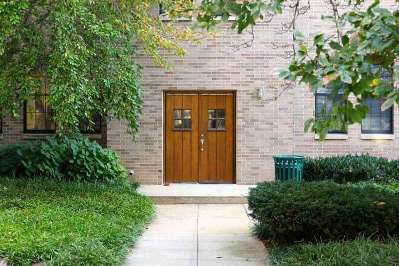 Refinished exterior doors