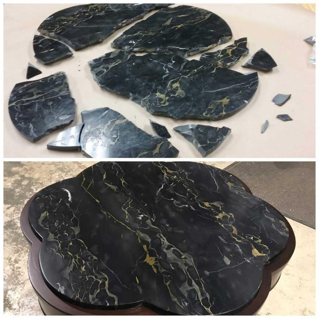 Marble table top repair