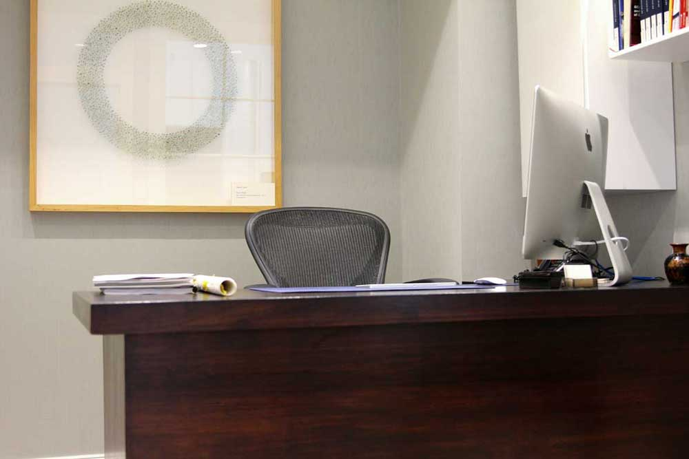 Refinished Office Desk for Sotheby's International Realty