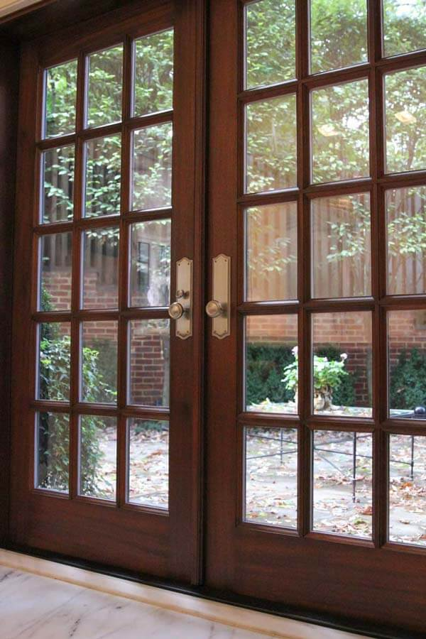 refinished residential patio French doors