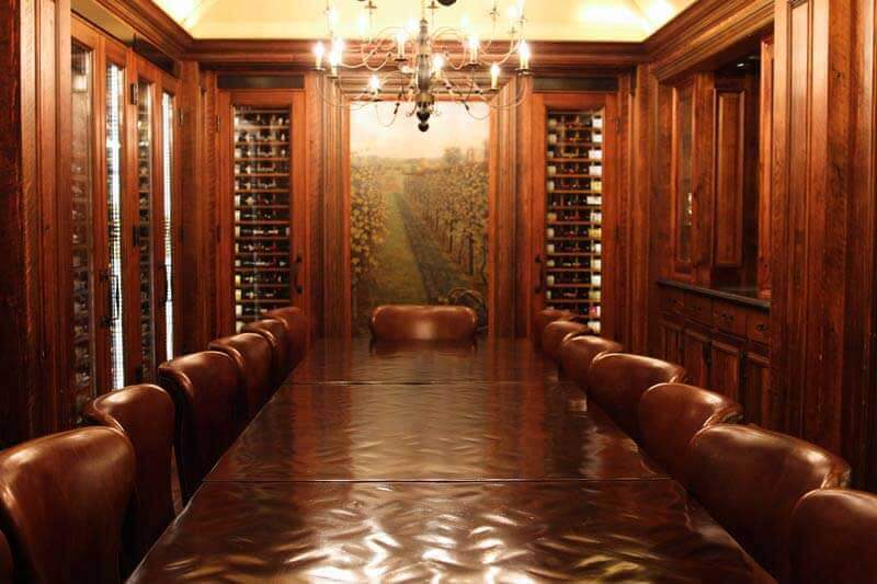 Jefferson Hotel's refinished wine cellar boardroom