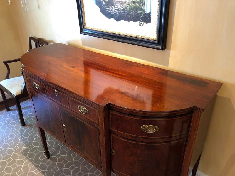 Photo of repaired buffet that previously had heat marks