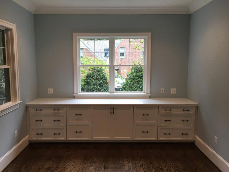 Built-in Desk Sprayed on site