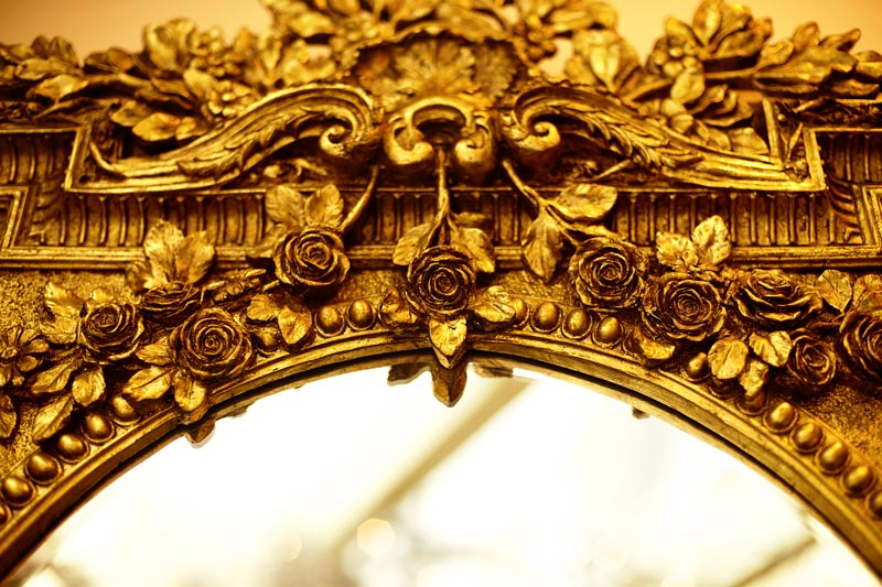 Photo of gilded mirror