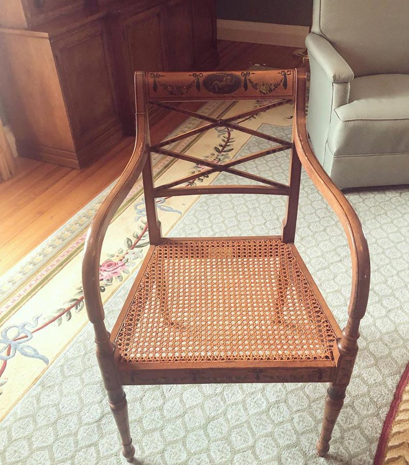 Photo of cane chair